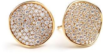 Ippolita Stardust Pave Diamond Wavy Disc Earrings