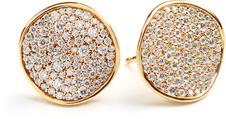 Ippolita Stardust Pave Diamond Wavy Disc Earrings