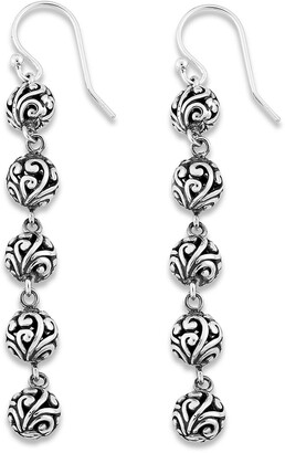 Samuel B. Sterling Silver Bali Design Ball Drop Earrings