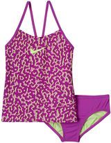 Nike Girls 7-14 Swim Leopard Tankini Swimsuit Set
