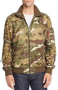 G Star Bolt Camouflage Print Bomber Jacket