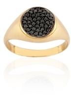 Geometry Boys Circle Black Diamond Ring