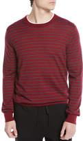 Men's Striped Wool/Cashmere Crewneck Sweater