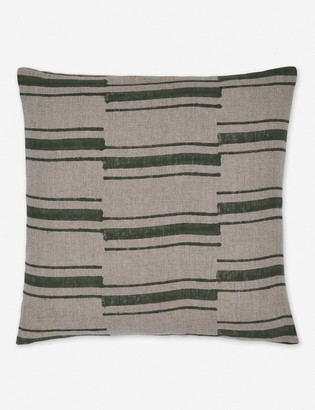 Lulu & Georgia Riley Linen Pillow, Moss