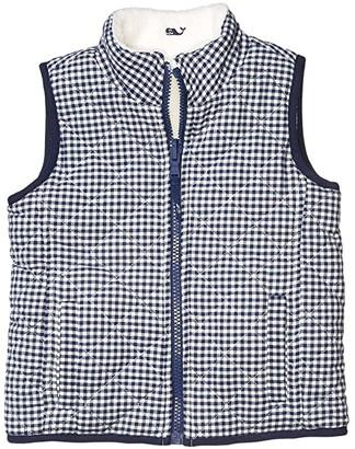 Vineyard Vines Kids Reversible Sherpa Vest (Toddler/Little Kids/Big Kids) (Marshmallow) Girl's Clothing