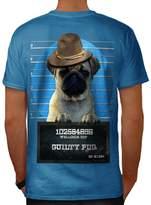 Pug Animal Criminal Dog Arrest Dog Men XXXL T-shirt Back   Wellcoda