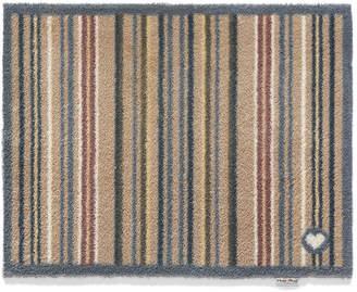 Hug Rug - Stripe Washable Recycled Door Mat - Brown - 65x85cm