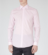Reiss Harlem Fine Pattern Shirt Soft Pink