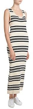 Theory Striped Ribbed Maxi Dress