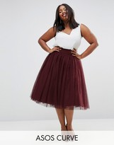 Asos Bow Back Tulle Prom Skirt