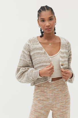 Urban Outfitters Hayley Button-Front Cropped Cardigan