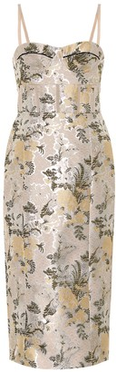 Brock Collection Quadrella floral brocade dress
