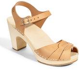 Swedish Hasbeens Peep Toe Clog Sandals