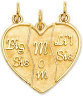Macy's 14k Gold Charm, Break Apart Big Sis, Mom and Lil Sis Charm