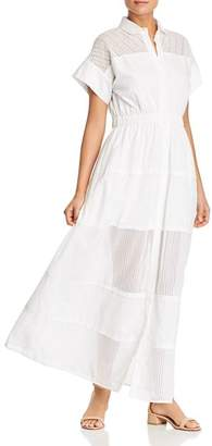 Max Mara Cristin Sheer Eyelet-Detail Maxi Dress
