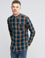 Bench Long Sleeve Check Shirt With Pocket
