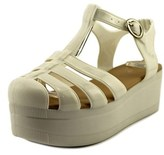 Wanted Jellypop Women Open Toe Synthetic White Platform Sandal.