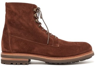 Brunello Cucinelli Suede Lace-up Boots - Mens - Brown