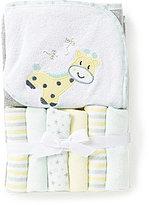 Starting Out Giraffe Hooded Bath Towel & Washcloths Set