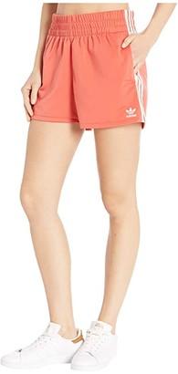 adidas adiColor 3-Stripes Shorts (Trace Scarlet/White) Women's Shorts