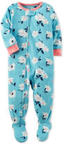 Carter's 1-Pc. Floral-Print Footed Fleece Pajamas, Baby Girls (0-24 months)