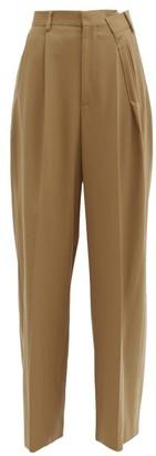 MM6 MAISON MARGIELA Folded Twill Wide-leg Trousers - Camel