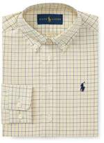 Ralph Lauren Poplin Tattersall Collared Dress Shirt, Size 2-3