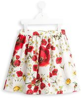 Dolce & Gabbana poppy and daisy print skirt