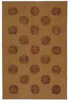 Martha Stewart Medallions Cocoa Silk/ Wool Rug (5' 6 X 8' 6)