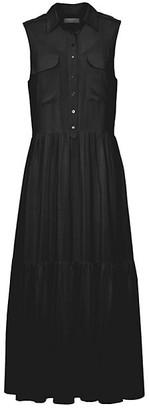 Equipment Allix Silk Sleeveless Shirtdress
