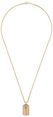 Emanuele Bicocchi Gold-Plated Feather Pendant Necklace