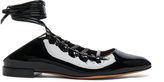 Givenchy Patent Leather Lace Up Mules