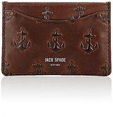 Jack Spade Men's Embossed Card Case-BROWN