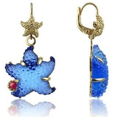 Tagliamonte Marina Collection - Blue Starfish Rubie & 18K Gold Earrings
