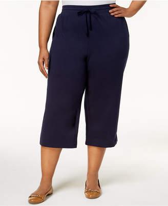 Karen Scott Plus Size Knit Capri Pants