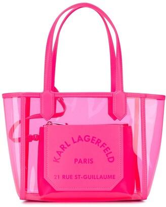 Karl Lagerfeld Paris K/Journey transparent small tote