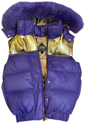 Pyrenex Purple Faux fur Leather jackets