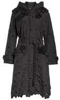 Simone Rocha Women's Beaded Floral Quilted Parka