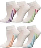 Fruit of the Loom Girls 6-Pack Of Scalloped-Top Crew Socks