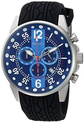 Roberto Bianci WATCHES Men's Messina Stainless Steel Quartz Watch with Rubber Strap