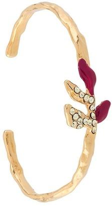 Marni Crystal-Embellished Leaf Bracelet
