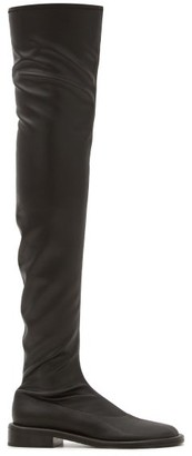 Proenza Schouler Pipe Faux-leather Over-the-knee Boots - Black