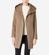 Cole Haan Hooded Italian Alpaca Coat