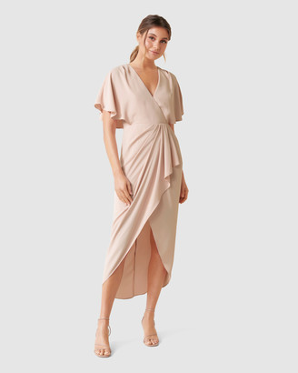 Forever New Jasmine Batwing Wrap Midi Dress