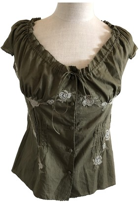 Ermanno Scervino Green Cotton Top for Women
