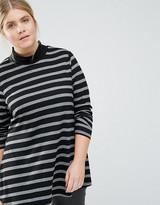 Junarose Striped Ribbed Roll Neck Top