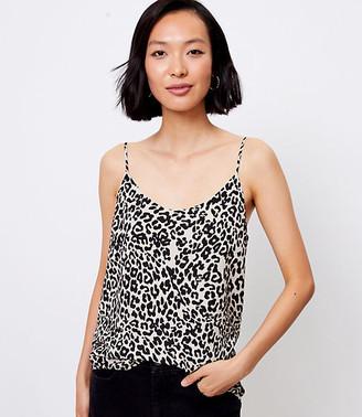 LOFT Leopard Print Drapey Cami
