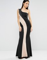 Jessica Wright One Shoulder Monochrome Maxi Dress