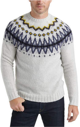 Lucky Brand Men Brushed Fair Isle Sweater