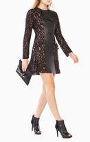 BCBGMAXAZRIA Briony Scroll Lace Dress